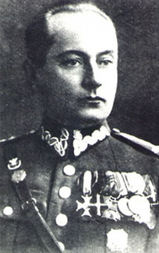 Colonel Kazimierz Mastalerz, commander of the Uhlan Regiment that conducted the saber charge.