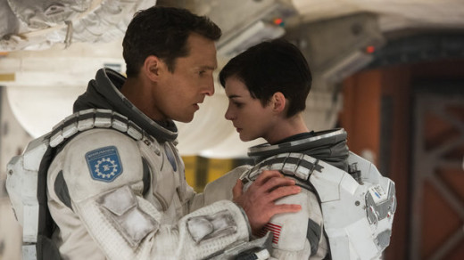 Cooper (McConaughey) and Brand (Hathaway) lead an expedition to find a new planet that can sustain life.