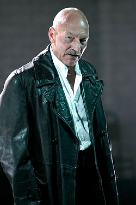 Sir Patrick Stewart as Macbeth.