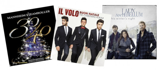 Holiday Music on CD with free digital download with CD purchase. Above30/40 by Manheim Steamroller, On This Winter's Night by Lady Antebellum, Buon Natale: The Christmas Album by Il Volo. See these + other albums under $10 via Amazon link below