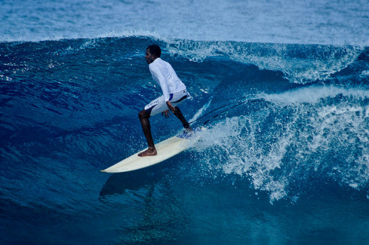 Surfing point, Maldives