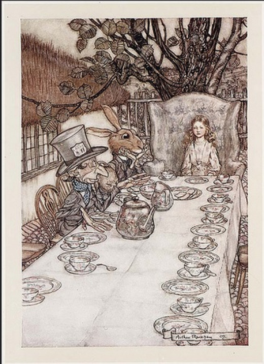 Alice's Adventures in Wonderland (Illustrator: Rackham, 1907) The Mad Tea-party