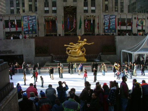 This is what it may look like to go ice-skating at the Rockefeller Center!