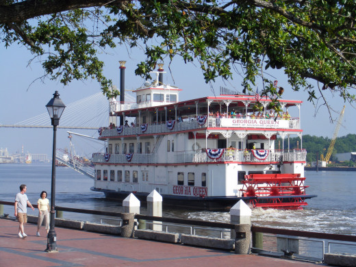 Savannah Riverboat Cruises are a sure way to transport you back in time, and feel like you're in a Mark Twain novel.