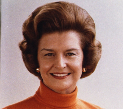 "Elizabeth Ann ""Betty"" Ford born April 8 1918 died July 8 2011 was married to U.S.President Gerald Ford"