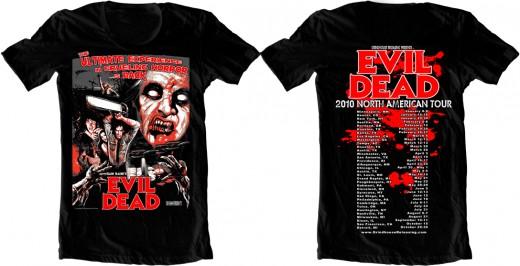 Rotten Cotton's double sided 'Evil Dead Tour Shirt'.