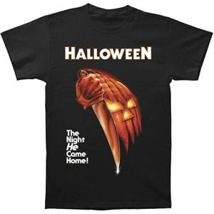 Some shirts such as this 'Halloween - Night He Came Home T-Shirt' sold by Old Glory may offer free shipping or possibly be eligible for Amazon Prime if you are a member.