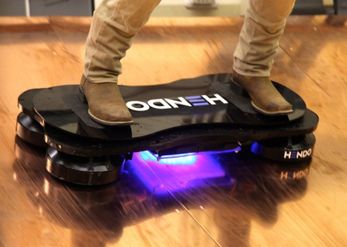 The Hoverboard glides above the ground for over 15 minutes uninterrupted. It glides an inch above the grounds surface.