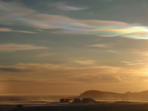 A Ribbon of Nacreous Clouds over Hut Point