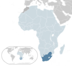 South Africa - right at the bottom of Africa