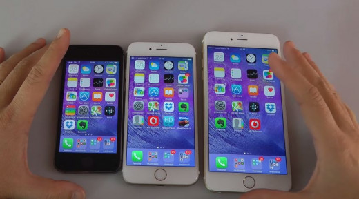 iPhone 5, iPhone 6 and iPhone 6 Plus Size Comparison