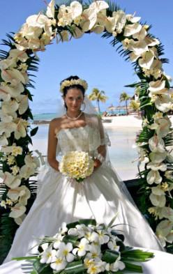 Formal Classic Beach Wedding Idea