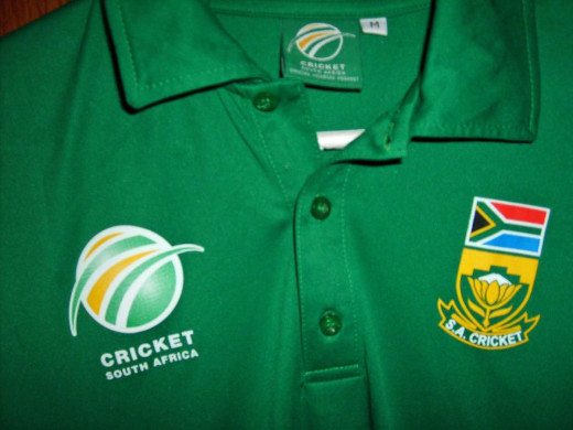 My grandson's other grandmother is a native of South Africa, where my grandson has visited often.  He was very surprised to receive this new South African cricket jersey which was another great bargain at $3.99