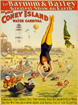 The Water Carnival before Luna Park opened.