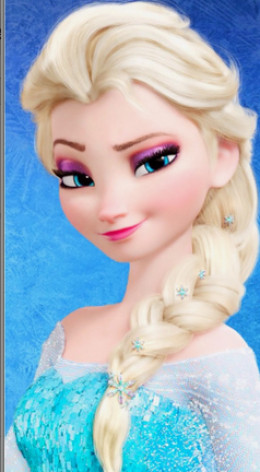 no girls princess complete without Elsa's blonde braid.