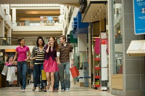 Young shoppers enjoying a day out