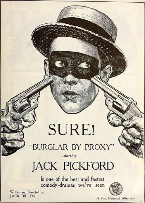 Vintage burglary graphic