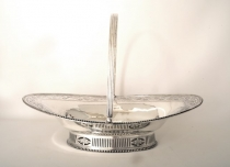 Antique Hester Bateman Silver Basket 1780