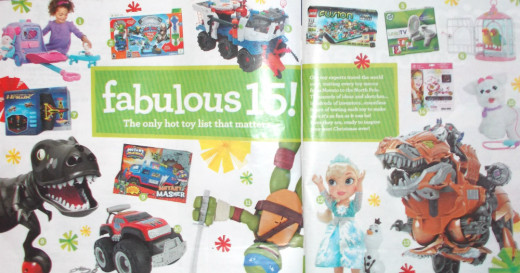 "Toys""R""Us displays top toys in its ""Great Big Christmas Book."""