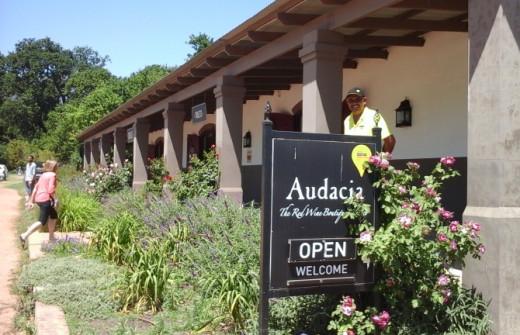 Audacia's tasting centre