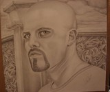 Self-Portrait drawn in Minnesota Correctional Facility - Rush City.