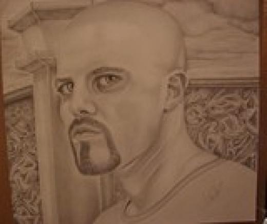 Self-Portrait drawn in Minnesota Correctional Facility - Rush City.