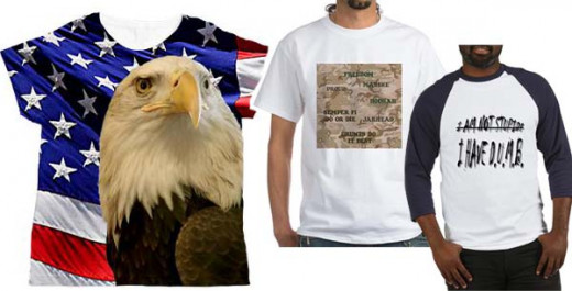 The eagle with the flag is the most popular