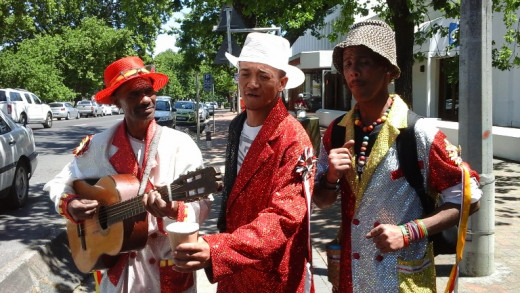 Street musicians in Stellenbosch, Western Cape, South Africa