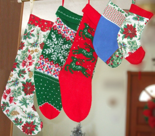 Everyone in the family (humans and pets) gets a stocking!