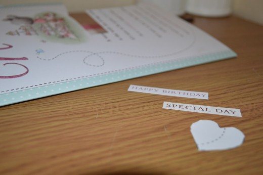 Almost every part of a greeting card can be up-cycled or used again in paper craft projects and scrap-booking
