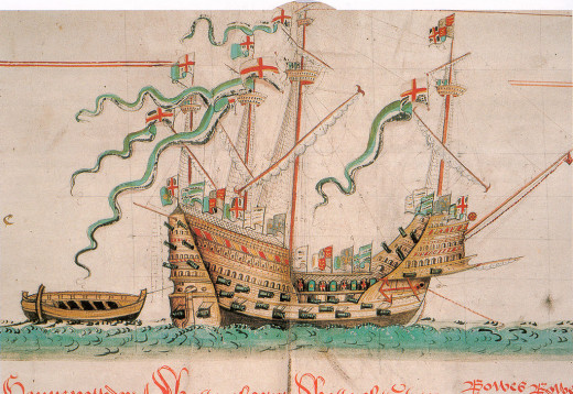 The Mary Rose. King Henry VIII flagship