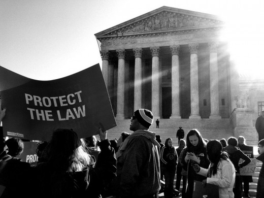 Protestors at the United States Supreme Court