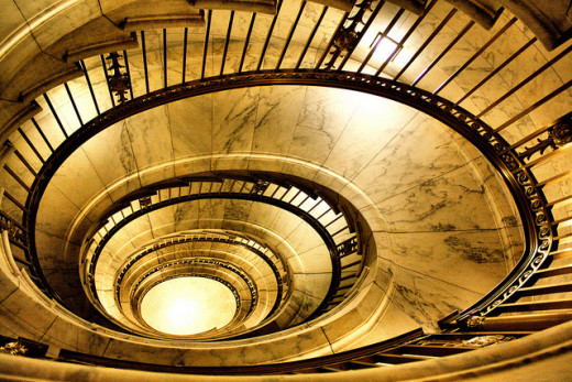 Staircase inside the U.S. Supreme Court Building