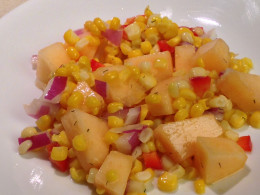 Cantaloupe and Corn Salad