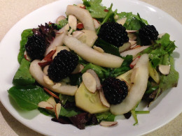 Salad with Blackberries and Pear