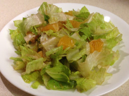 Romaine Salad with oranges