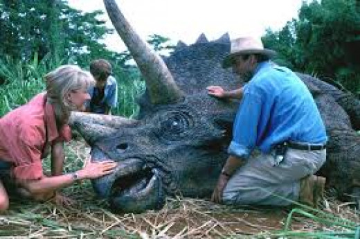 This film has some up close and touching moments between humans and the prehistoric  creatures from millions of years ago.