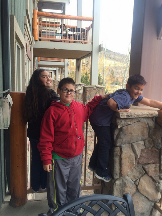 Grandchildren checking out the Westgate at Park City.