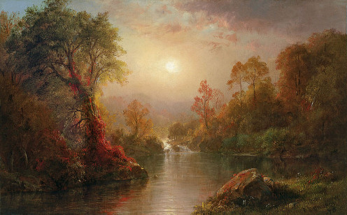 Frederic Edwin Church - Autumn - 1875 Oil on Canvas