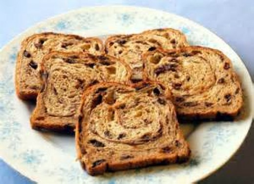 Platter of Raisin Bread French Toast