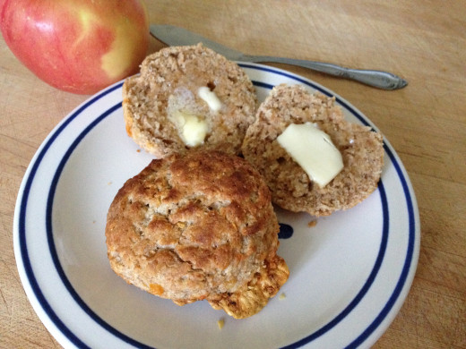 Cheesy whole wheat biscuits