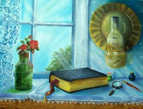 by Jean Powers done in oils signed JPbar the registered family brand in Wyoming.