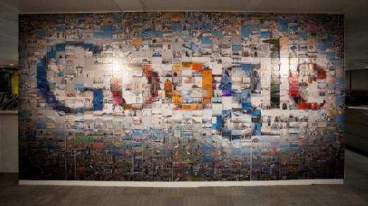 Google Office Wall