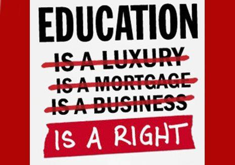 Education should be a right guaranteed for everyone.