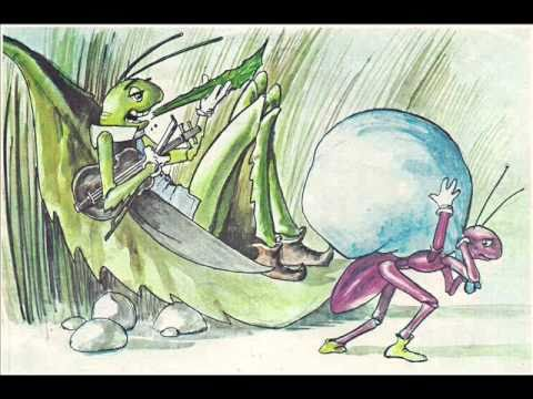 Aesop's fable, 'The Ant and the Grasshopper'
