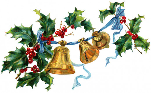 Christmas holly and bells.