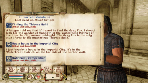 The new journal is a welcome change after Morrowind's.