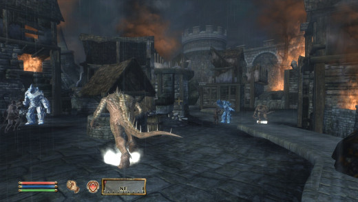 The Battle of Kvatch is one of the stronger points in Oblivion.