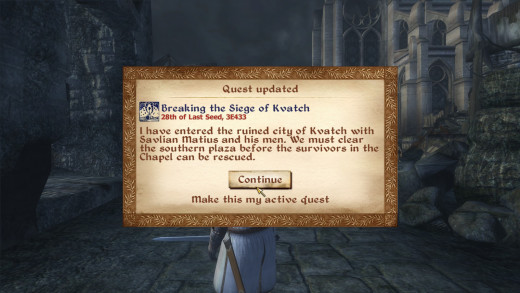 Popups like these were an irritating and frequent part of Oblivion.
