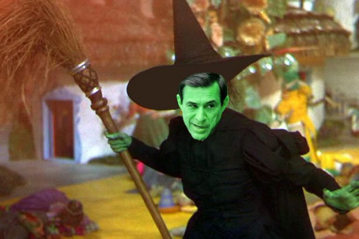Broom-riding Darrell Issa in a disturbing scenario from a typical Postal Employee's nightmare.